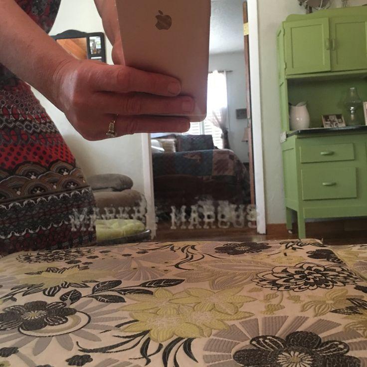 Vintage Mirror, Frameless Mirror, Bar Decor, Solid One Inch Mirror, Marker Marcus Mirror by MaggieBleus on Etsy
