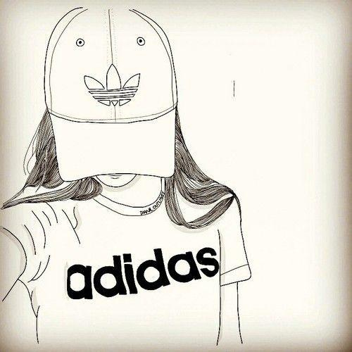 Imagen de adidas, outline, and art