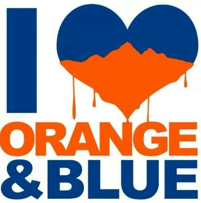 HAPPY SUPER BOWL SUNDAY, GIRLS ♥ TODAY, we are going to do..... you guessed it..... ORANGE and BLUE. Hope I don't tweak any Panthers fans :)  GO BRONCOS!