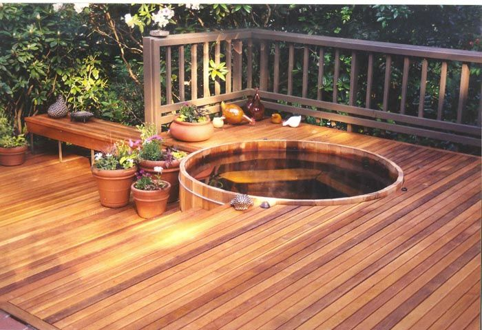 In-deck tub.