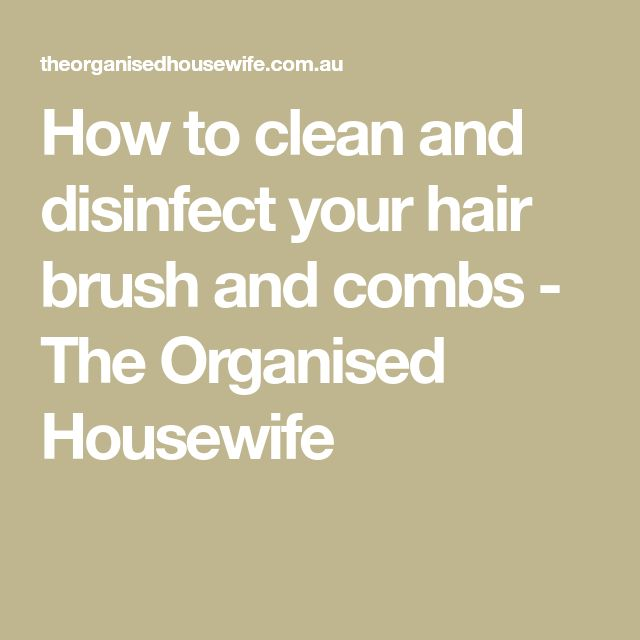 How to clean and disinfect your hair brush and combs - The Organised Housewife