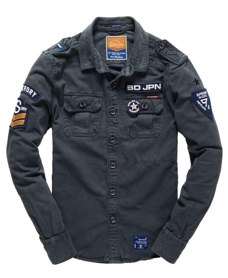 Mens - Delta Shirt in Hurricane Blue   Superdry