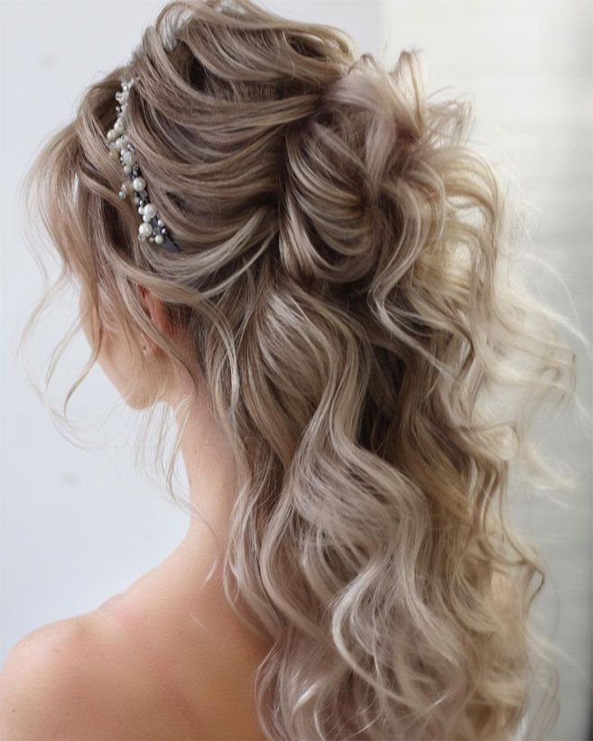 Gorgeous wedding hairstyles perfect for ceremony and reception - Classic bridal hairstyle ,wedding hairstyles #weddinghair #hairstyles #updo #bridalhair #promhairstyle #texturedupdo #messyupdo