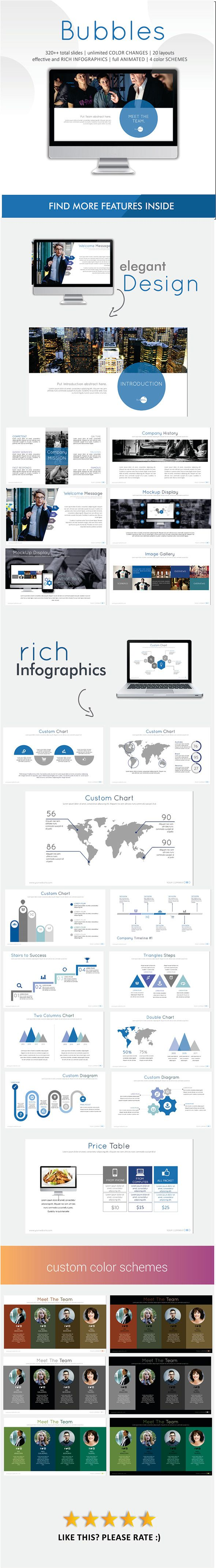 Bubbles PowerPoint Template #presentation Download…
