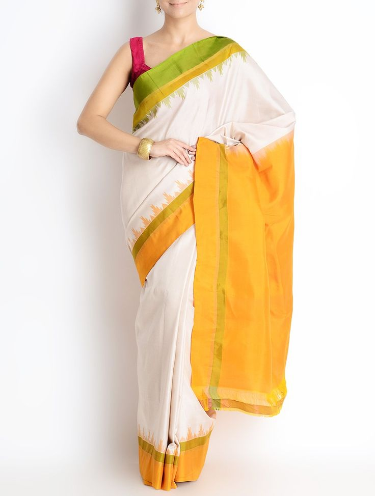 SOLD - Gadwal handloom silk sari. View more from this collection at: www.facebook.com/omnah.    Pic courtesy: Jaypore