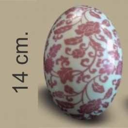 Categoría: Moldes Plasticos - Producto: Molde Huevo Pascua Con Transfer Nº 14 Rosas Rojas - Envase: Bolsa - Presentación: X    4 Unid. - Marca: Lodiser