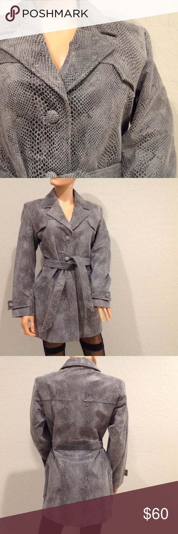 Leather Trench Coat New condition. Real leather. Worn once. Fully lined. lucid Jackets & Coats