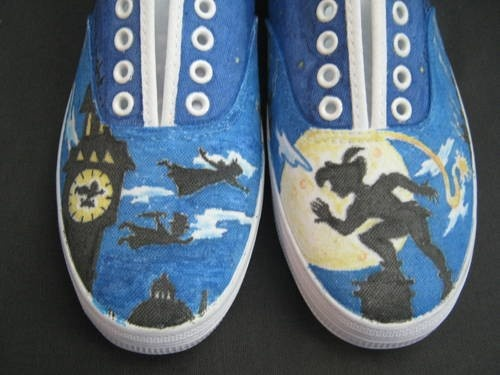Peter Pan custom painted shoes...I am so in love with these...