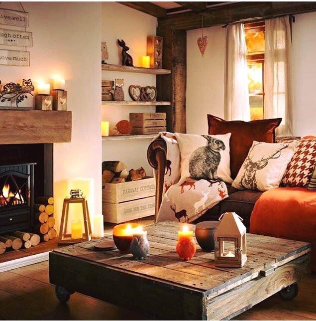 the best of the winter woodland trend home living roomautumn - Interior Design Living Room Warm