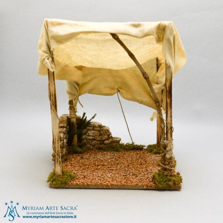 Capanna in Legno con Tenda #capanna #presepe #myriamartesacra #accessoripresepe  http://www.myriamartesacrastore.it/accessori-presepe/3454-capanna-in-legno-con-tenda.html