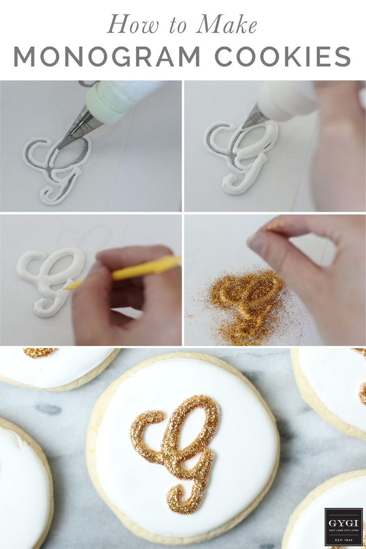 Monogram-Cookies-Tutorial By Orson Gygi