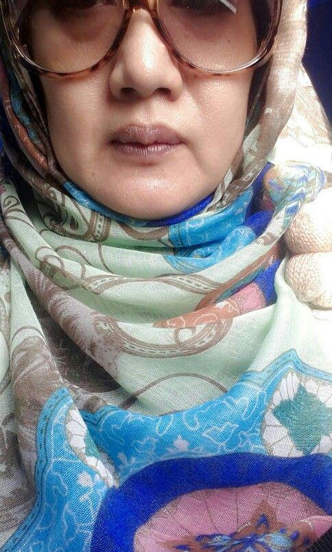 Hijau, coklat, biru #hijab