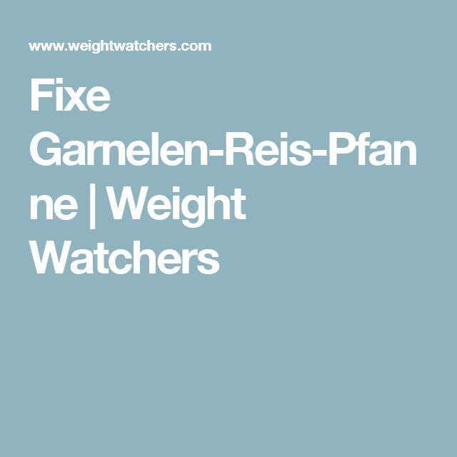 Fixe Garnelen-Reis-Pfanne   Weight Watchers