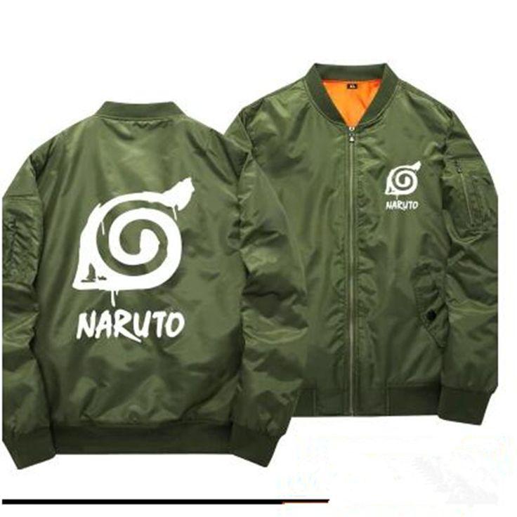 Naruto bomber jacket multiple styles colors bomber