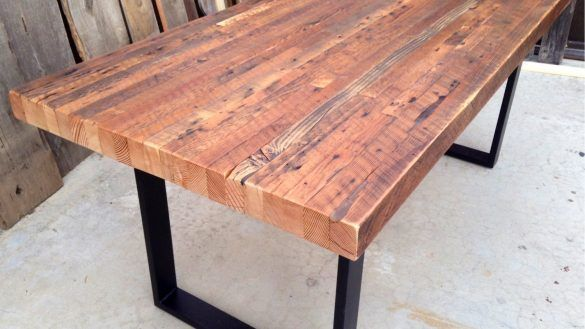 Dining Room Reclaimed Wood Outdoor Dining Table Custom Indoor Exposed Edge Rustic Industrial 2 From Reclaimed Wood Dining Table Wood Dining Table Dining Table