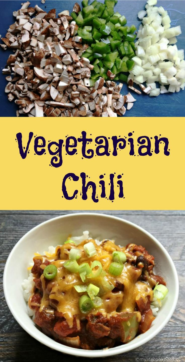 Vegetable Chili Portobello Mushrooms