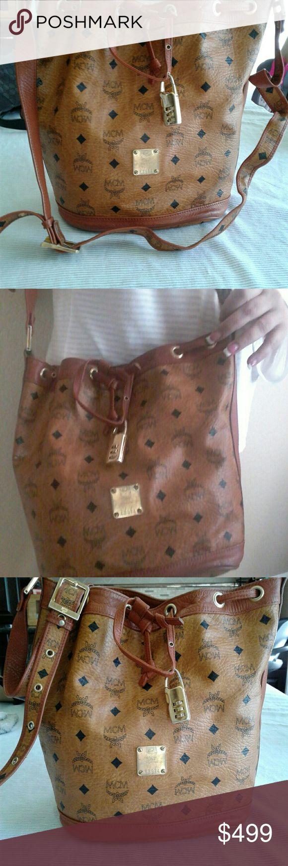 FINAL PRICE!!!!!     MCM SHOULDER BUCKET BAG For sale a original MCM BUCKET purse, no tears good condition MCM Bags