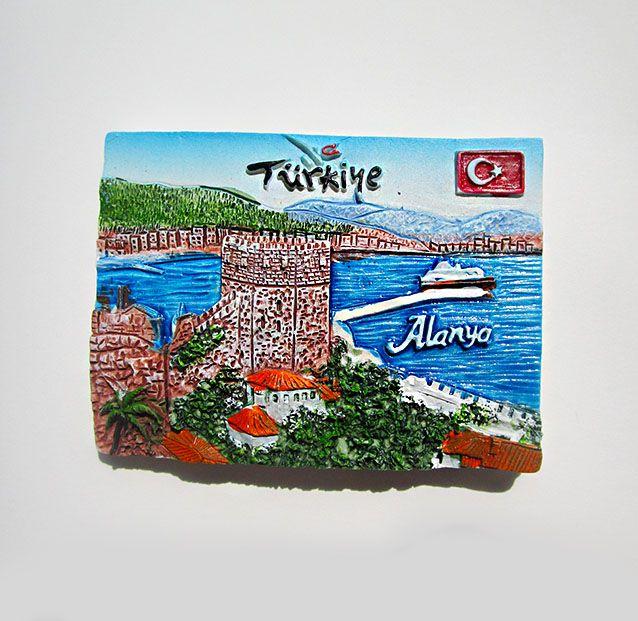 tourism Turkey Alanya Memorial resin refrigerator stereo paste fridge sticker home decor
