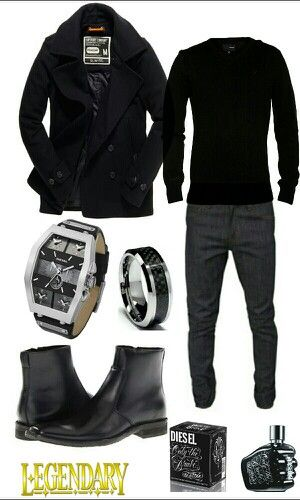 Men's black casual dressy outfit | Raddest Looks On The Internet: http://www.raddestlooks.net street except the shoes