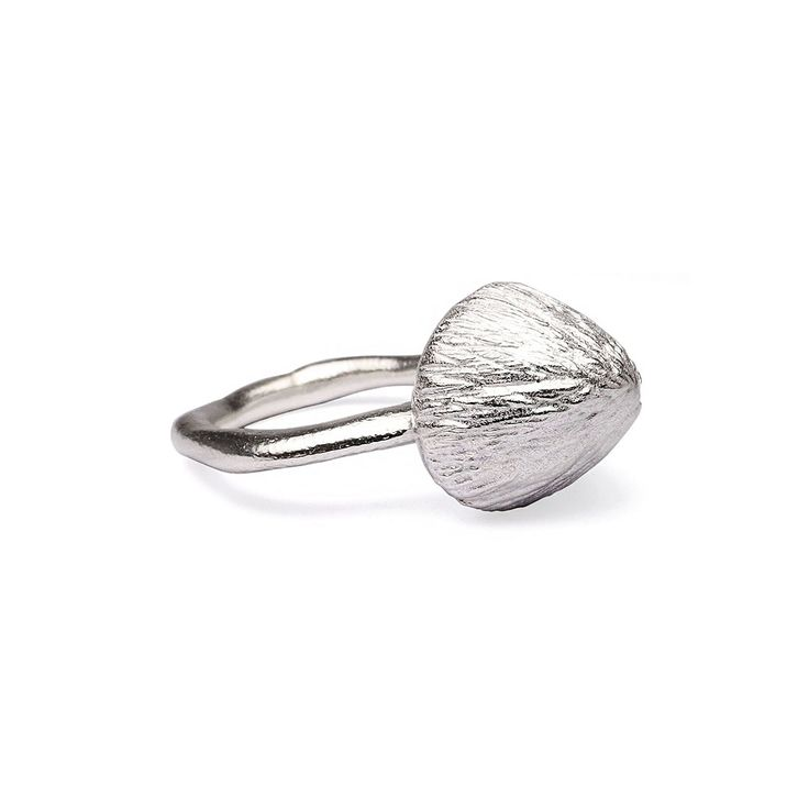 Silver Mushroom Ring - Created by Flux Studio