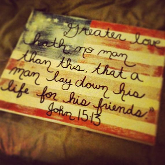 Greater Love American Pride Canvas Painting