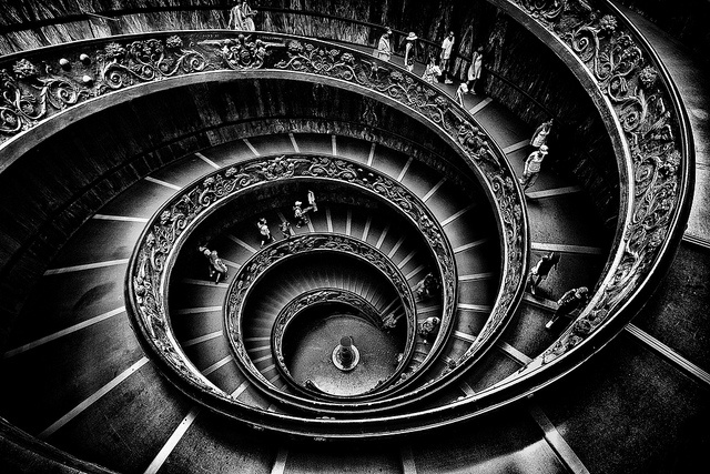 Momo's Staircase in the Vatican