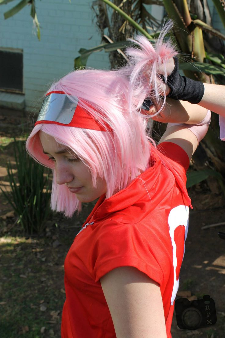 My first cosplay, Haruno Sakura from Naruto Shippuuden  Cosplay made and worn by me first at UPcon in 2012 and again at Icon 2013