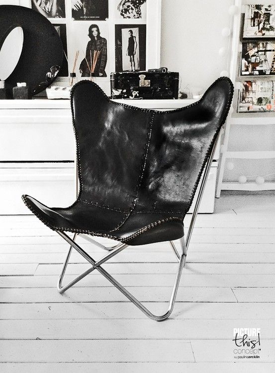 Paulina Arcklin | Blog Post: Butterfly Is Here · Leather Butterfly ChairWhite  ...