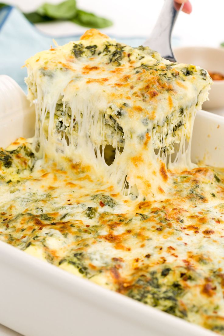 If you know spinach-artichoke dip is the best way to start a party, you can only guess what layering it in lasagna does. Get the recipe from Delish.   - Delish.com