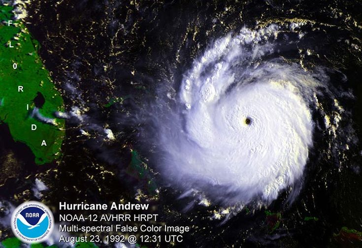 Hurricane Andrew satellite