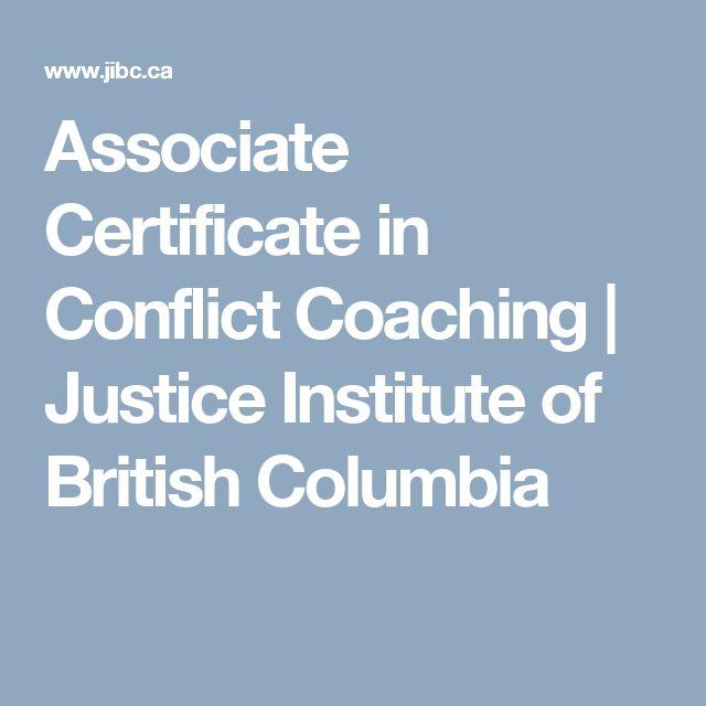 Associate Certificate in Conflict Coaching   Justice Institute of British Columbia
