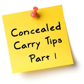 Here is part one of an excellent set of practical tips on carrying a concealed handgun from USA Carry.