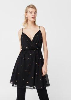 Tiulowa sukienka w gwiazdki