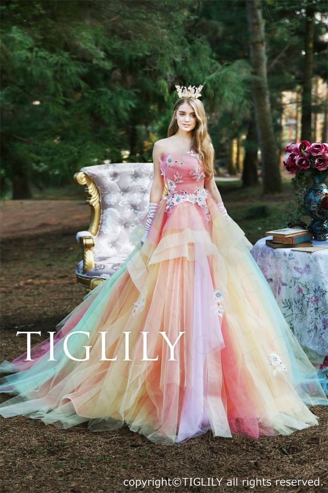 TIGLILY カラードレス c176