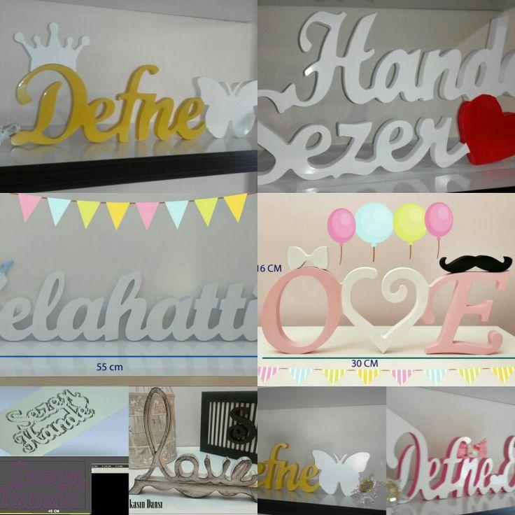 Dekoratif ahşap harf ve kelimeler tekbi karakter 5 tl den ücretlendirili. badedeco@gmail.com