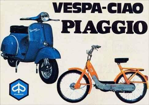 12257 - MOTORCYCLE - PIAGGIO - Vespa-Ciao - A venda agora em todo o Brasil - 12257 - 41x29-.