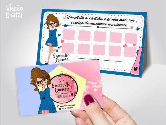 Logo Manicure + Grátis Cartão de Visita Mais
