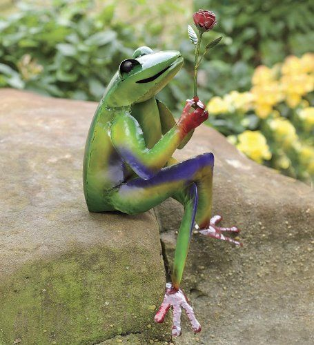 How To Freecycle And Repurpose Tutorials Cute Frogs Pinterest Garden Art Statues