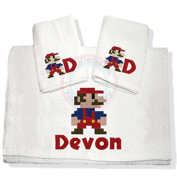 Personalised Towel Mens towel  Childrens by KiarrahsEmbroidery