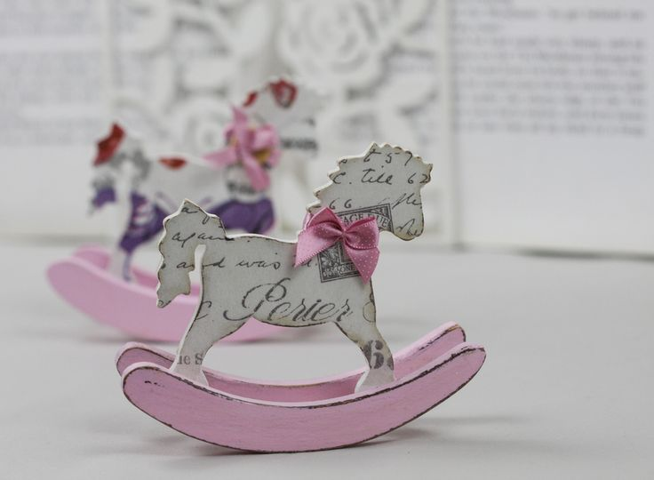Mini wooden rocking horse, £8.50