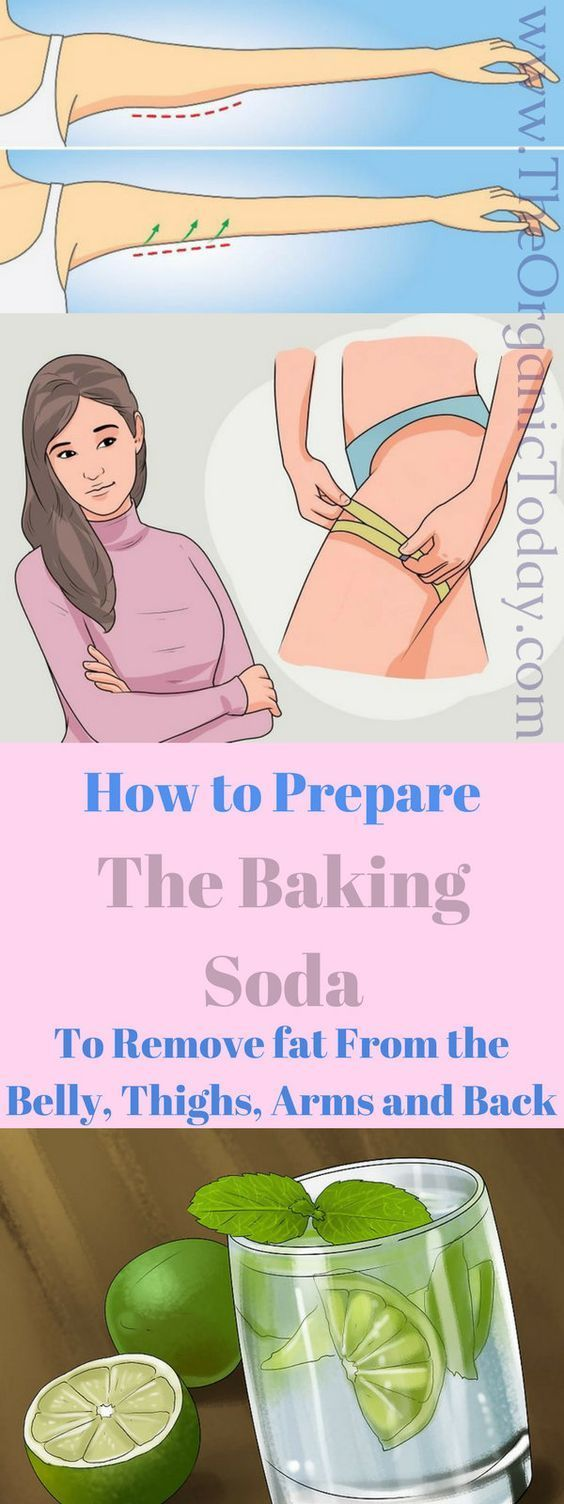 How to Prepare the Baking soda to Remove fat From the Belly, Thighs, Arms and Back!