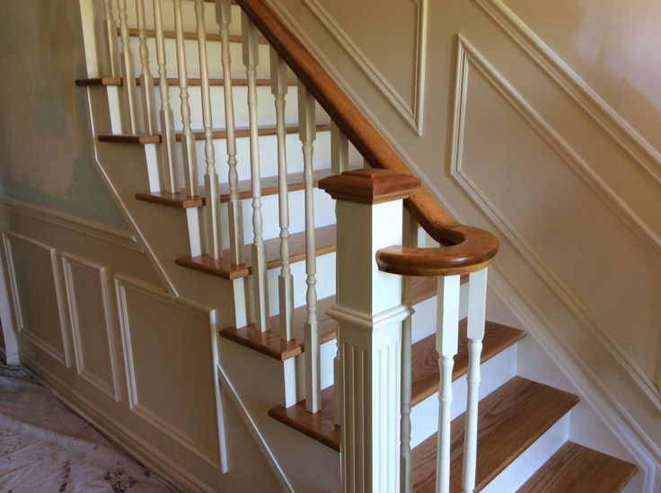 this oak staircase is straight twotone natural oak colour with white risers stair designoak colornewel