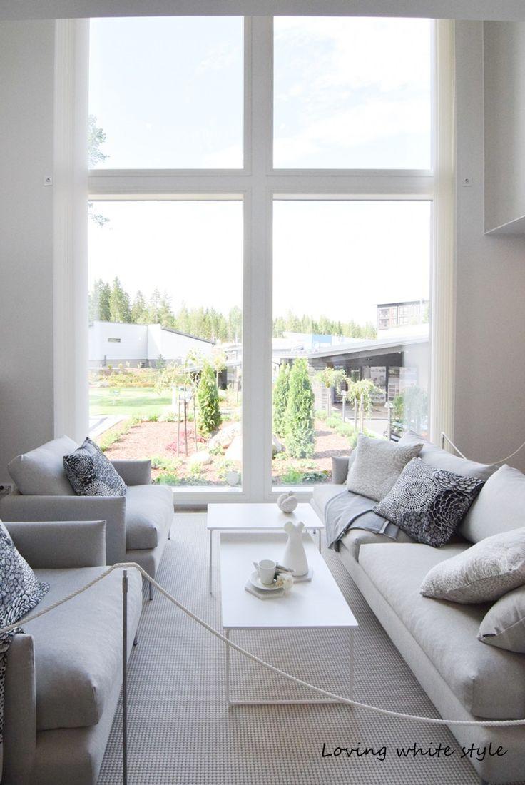 Loving white style: Asuntomessut 2016/ Ideoita olohuoneeseen