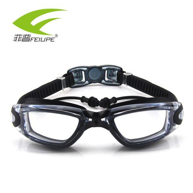 Promo $11.85, Buy FEIUPE Myopia Swim Goggles Swimming Glasses Anti Fog UV Protection Optical Waterproof Eyewear for Men Women Adults Sport F316