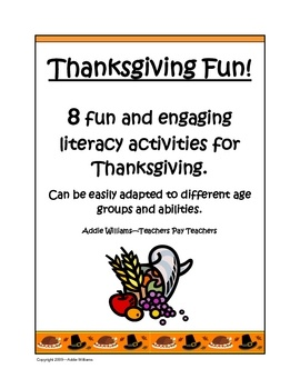 Thanksgiving Literacy for Middle School