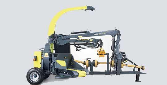 HJ500C on hinattava suurtehohakkuri, joka hakettaa jopa 45 cm runkoja.  HJ500C | Junkkari Oy, Ylihärmä