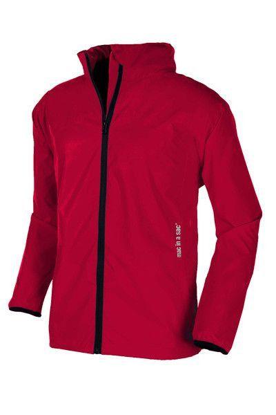 Adult Lightweight Rain Jacket: Red