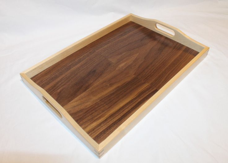 Wooden Serving Tray by RawWoodWorks on Etsy https://www.etsy.com/listing/216537429/wooden-serving-tray