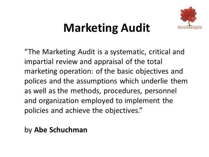 Marketing Audit Defined