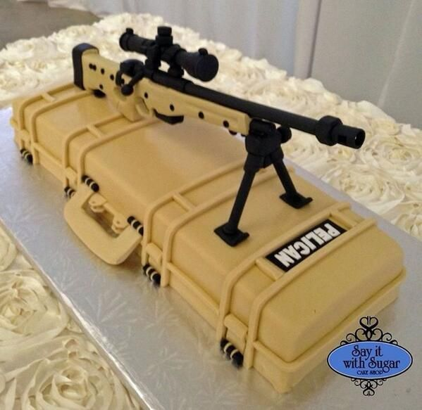No matter how you slice it, Pelican delivers! Rifle Case Cake...